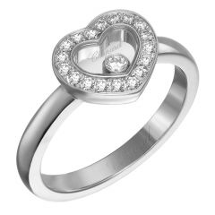 Happy Diamonds Heart Pave Ring