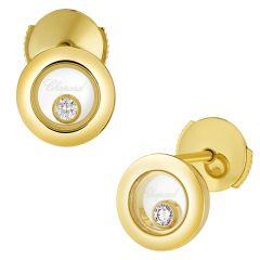 Happy Diamonds Yellow Gold Earrings