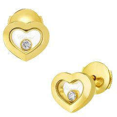Happy Diamonds Yellow Gold Heart Earrings