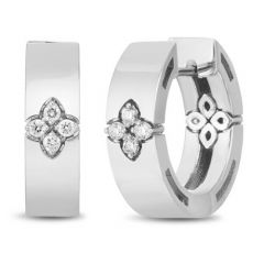 Love in Verona Small White Gold Earrings