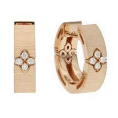 Love in Verona Small Rose Gold Earrings Brushed