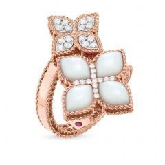 Princess Flower Mother of Pearl Double Ring