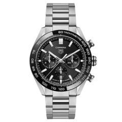 Tag Heuer Carrera Automatic 44mm Black and Silver