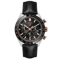 Tag Heuer Carrera Automatic 4mm Black and Rose Gold