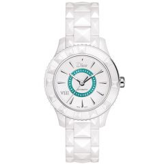 Limited Edition Christian Dior VIII White Ceramic Womens Watch Paraiba tourmalines