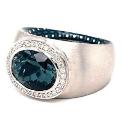 Grey Tourmaline Silk Ring