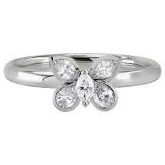 Butterfly Ring White Gold