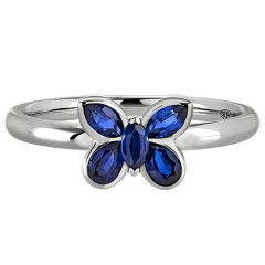 Sapphire Butterfly Ring