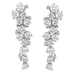 Diamond Grape Vine Earrings