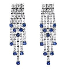 Sapphire and Diamond Chandelier Drop Earrings