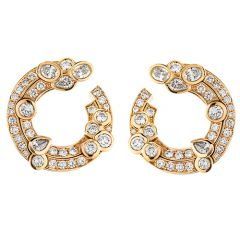 Cerchio Rose Gold Earrings
