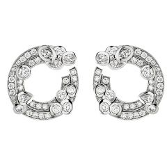 Cerchio White Gold Earrings