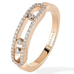 Baby Move Rose Gold Pave Ring