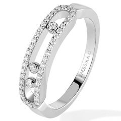 Baby Move White Gold Pave Ring