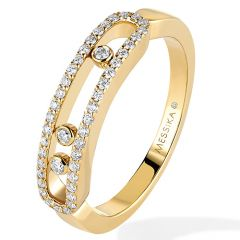 Baby Move Yellow Gold Pave Ring