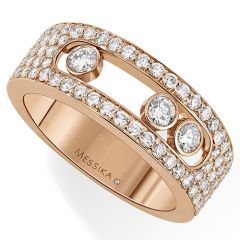 Move Pave Small Rose Gold Ring