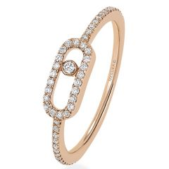 Move Uno Pave Rose Gold Ring