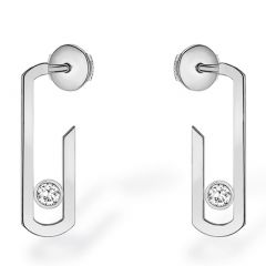 Move Addiction White Gold Earrings