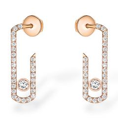 Move Addiction Paved Rose Gold Earrings