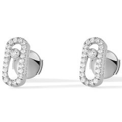 Move Uno White Gold Earring