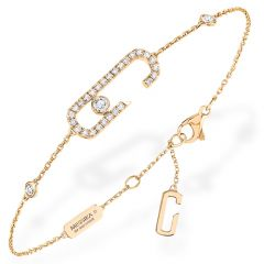 Move Addiction Pave Bracelet Yellow Gold