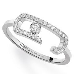 Move Addiction Pave White Gold Ring