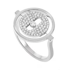Lucky Move Pave Ring White Gold