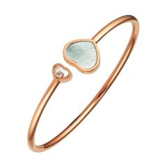 Happy Hearts Rose Gold Mother of Pearl Bangle