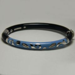 Dark and Light Blue Spiral Design Bangle
