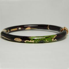 Purple & Green Enamel Bangle