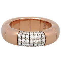 Pura Oro Rose Gold 7 Rows Ring