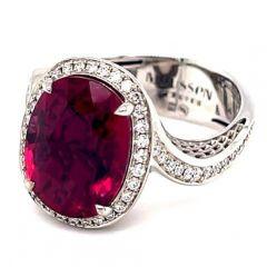 Twisted Rubellite Ring