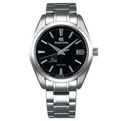 Heritage Spring Drive Black Dial Watch 41mm